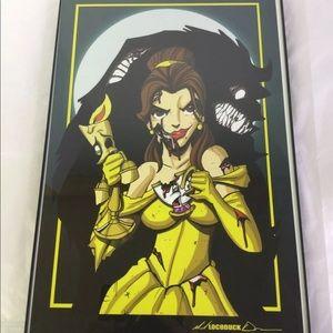 Disney Beauty & The Beast Evil Belle Zombie Print